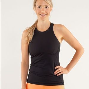 Lululemon Spin It To Win It High Neck Yoga Black